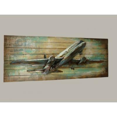 3D schilderij vliegtuig