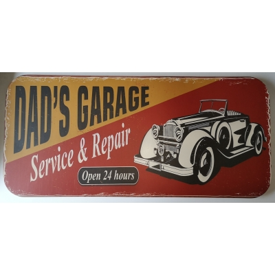 Dad's garage retro bord