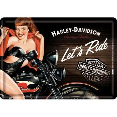 Kaart Harley Davidson Biker Babe
