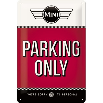 "Bord ""Mini parking only"""