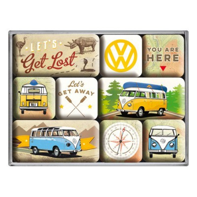 Magneet Set VW Bulli Lets Get Lost