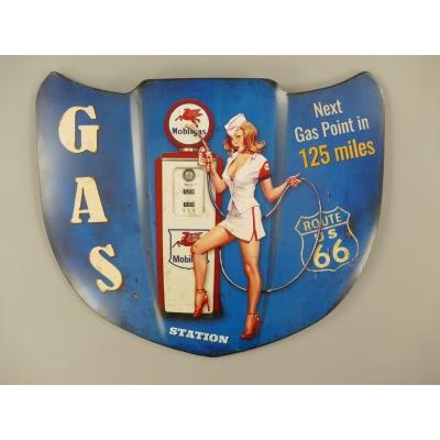 Motorkap Gasstation pinup